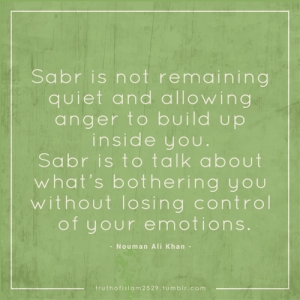 anger management, sabr, talking about emotions