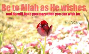 Be to Allah as he wishes to.
