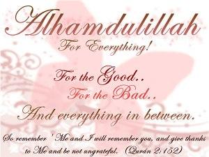 say alhamdolillah