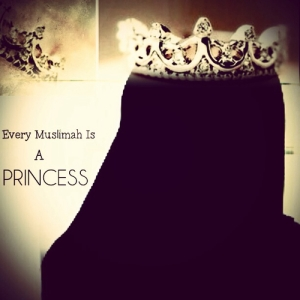 muslimah, hijab, crown, princess