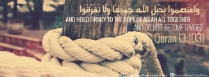 hold firm to rope of allah, do not become divided.