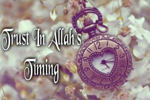 trust in allah s timing