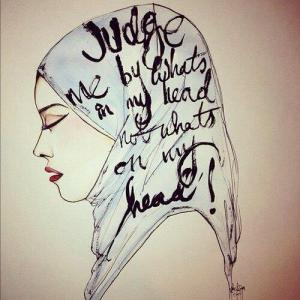 hijab, head, opinion, judge,