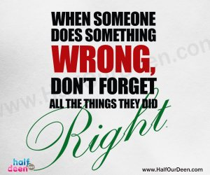 when someone does something wrong, right