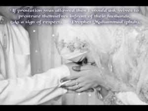 sajda, husband, respect, with hadith