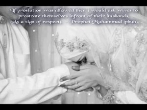 sajda, husband, respect, with hadith