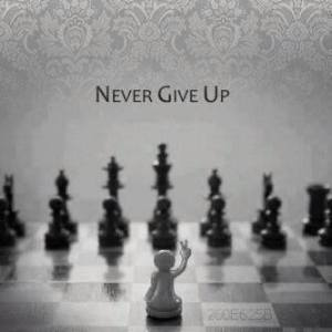 never give up, chess
