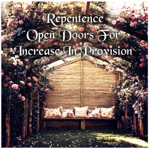 repentence opend doors for provision and rizk