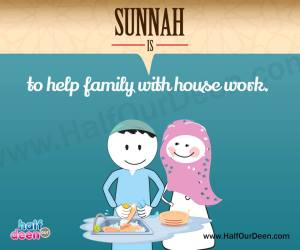 sunnah is helping around in the house, men, husband, father