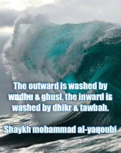 outward, inward, tazkiya, soul, dhikr, tawbah, ghusl, wudhu, sheikh mohammed yaqoubi