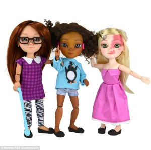 Image of dolls with disabilities, uk
