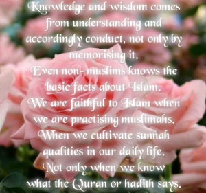 rose, quality muslimah, islam, conduct, knowledge, wisdom, practice Islam, understand