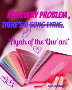 song lyric versus ayah of the quran, islam