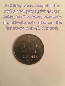 in-debt-quote-prayer-supplication-krone-mynt